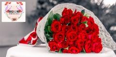 Букеты из кустовых или эквадорских роз, лаванды, лизиантусов, хризантем