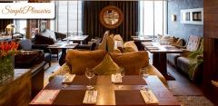 Блюда меню и напитки в ресторане-клубе Simple Pleasures