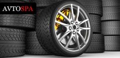Шиномонтаж 4 колес, комплексная химчистка салона, абразивная полировка кузова