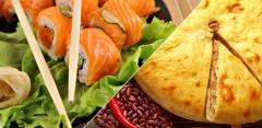 Суши, роллы и пироги от Karamel-sushi + осетинские пироги от «Пироги Табу»