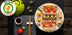 Доставка сетов от компании Sushi-Clubs: 5, 7, 10 или 15 любых видов роллов