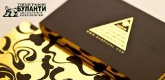 Визитки ручной работы с тиснением от типографии «Буланти»