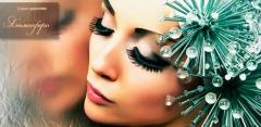 Наращивание ресниц в салоне «Атмосфера»: в уголках глаз, 3D- или микс-эффект