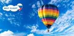 Полет на воздушном шаре с обрядом посвящения в воздухоплаватели от Best Flight