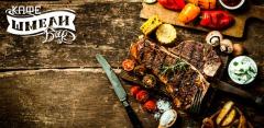 Любые блюда и напитки в кафе «Шмели»: блюда из мяса и рыбы, салаты, пицца, паста