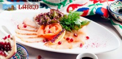 Любые блюда и напитки в ресторане грузинской кухни Largo за полцены