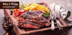 Отдых с любыми блюдами и напитками в трех ресторанах Ribs&Wings