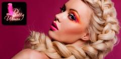 Плетения кос и оформления бровей в школе визажа Pretty Woman