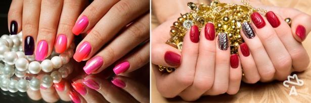 Шеллак Серый С Розовым Дизайн